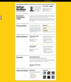 Website Cv A Few Interesting Resume Cv Website Designs