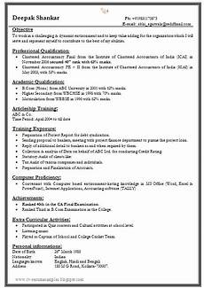 Resumetemplate Com 1 Page Resume Format For Freshers Resume Format Download
