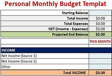 Excel Personal Budget Template Download Personal Monthly Budget Template Free Download Excel