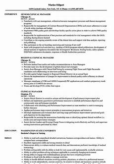 Clinical Trial Manager Resume Clinical Manager Resume Samples Velvet Jobs
