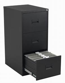 steel 3 drawer filing cabinet black