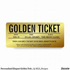 Golden Ticket Invitation Personalized Elegant Golden Ticket Invitation Golden