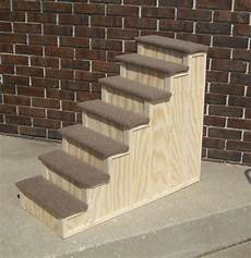 30 x 36 inch wood pet 7 steps bed step stain choice