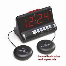 cleardigital sw200 dual alarm clock with large display and