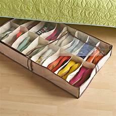 bed shoe storage tweed 16 pair underbed shoe
