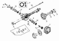 Tamiya Bearing Size Chart Willys Jeep Parts Rear Axle Dana 41 Amp Dana 44 1946 1971
