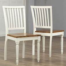 shop antique white oak dining chair set of 2 free