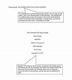 Apa Title Page Format Template Free 6 Sample Apa Format Title Page Templates In Pdf Ms