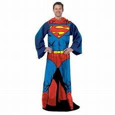 superman fleece throw blanket with sleeves superman