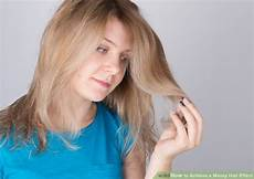 hair messy 3 ways to achieve a hair effect wikihow