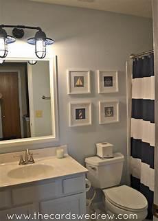 themed bathroom ideas nautical bathroom makeover the cards we drew