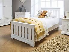 toulouse white painted 3 single slatted bed free