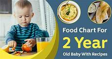 2 Year Old Food Chart 2 Year Old Baby Food Chart Food Menu With Recipe Meal