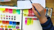 Sennelier Watercolor Chart Review Sennelier Watercolour Paint Unpacking Colour