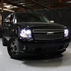 Led Lights For Avalanche Chevy Avalanche 2007 2013 Black Halo Projector Headlights