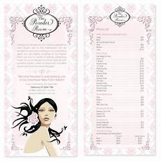 Pricelist Template Beauty The Powder Room Hairdressing Pricelist Design Conception
