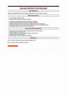 Online Instructor Resume Sample Online Instructor Resume