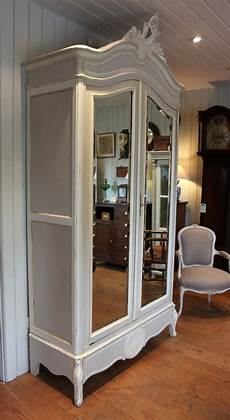 painted mirrored two door armoire antiques atlas