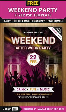 Free Flyer Templates To Download Free Weekend Party Flyer Psd Template Designyep