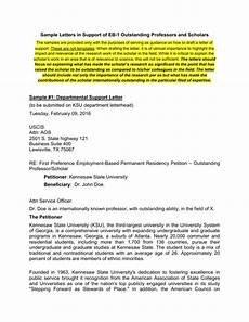Eb1 Recommendation Letter Sample Letters Of Support Eb1