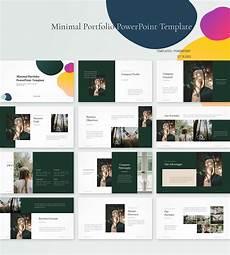 Ppt Portfolio Templates Minimal Portfolio Powerpoint Template Pptwear Com