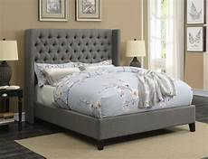 benicia upholstered bed benicia grey upholstered