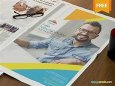 Free Advertising Papers Free Photorealistic Full Page Newspaper Ad Mockup By