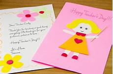 How To Make Babysitting Cards How To Make A Homemade Teacher S Day Card 7 Steps With