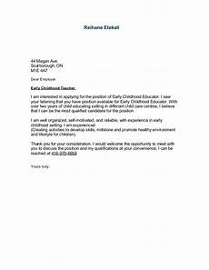 Early Childhood Cover Letter Sample Cover Letter