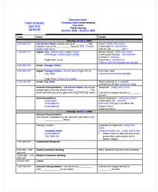 itinerary format 9 travel itinerary templates free word pdf format