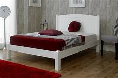 valencia white solid wood bed frame 4ft small