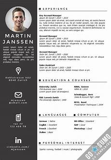 Creative Word Cv Templates Cv Template Zurich Creative Cv Template Creative Resume