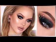 sparkly black nye smokey in depth makeup tutorial