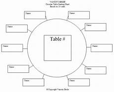 Downloadable Seating Chart Circular Table Chart For 10 Guests Seating Chart Wedding