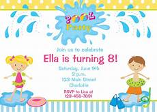 Sample Birthday Invitation For Kids Pool Party Birthday Invitation Pool Party Pool Toys