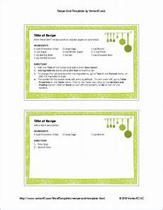 Word Template Recipe Free Printable Recipe Card Template For Word
