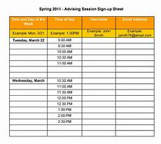 Hourly Sign Up Sheet Template 40 Sign Up Sheet Sign In Sheet Templates Word Amp Excel