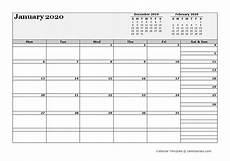2020 Three Month Calendar 2020 Blank Three Month Calendar Free Printable Templates
