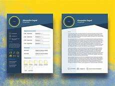 Cover Page Of Cv Free Infographic Cv Template With Cover Letter Page By