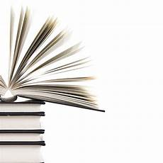 Books Powerpoint Backgrounds Pile Of Books With One Book Open On White Background For
