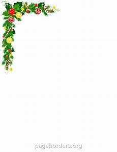 Holiday Borders For Microsoft Word Printable Christmas Corner Border Use The Border In