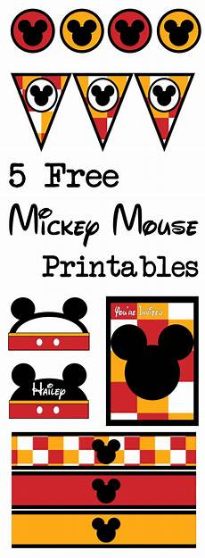 Mickey Mouse Printables Free Five Mickey Mouse Free Printables Paper Trail Design