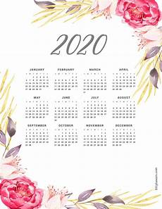Free Printable Yearly Calendars 2020 Free Printable 2020 Yearly Calendar At A Glance 101