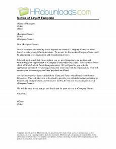 Layoff Letter Sample Layoff Letter Template Business