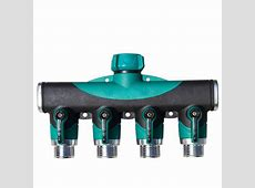 3/4 Inch Garden Hose 4 Way Splitter Water Pipe Faucet Shut