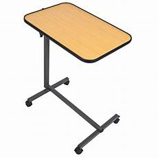 overbed laptop food tray table rolling desk hospital