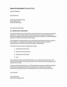 Termination Employee Letter Contract Termination Letter