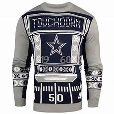 Dallas Cowboys Light Up Men S Dallas Cowboys Klew Navy Light Up Ugly Sweater