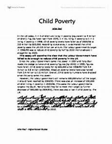 Poverty Essays Persuasive Essay For Poverty