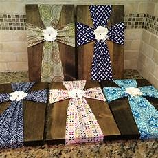 sale wall fabric cross on wood plaque with flower